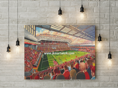 new anfield on matchday canvas a3 size (1)